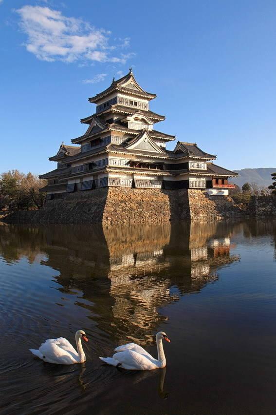 Замок Мацумото (Мацумото. Япония).