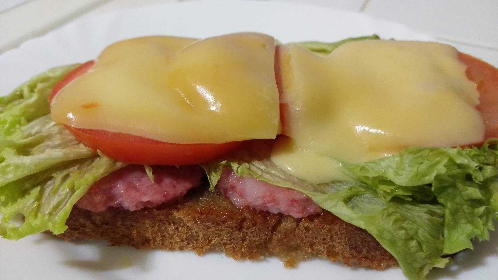 Это бутерброд маленького ребенка - собственного приготовления