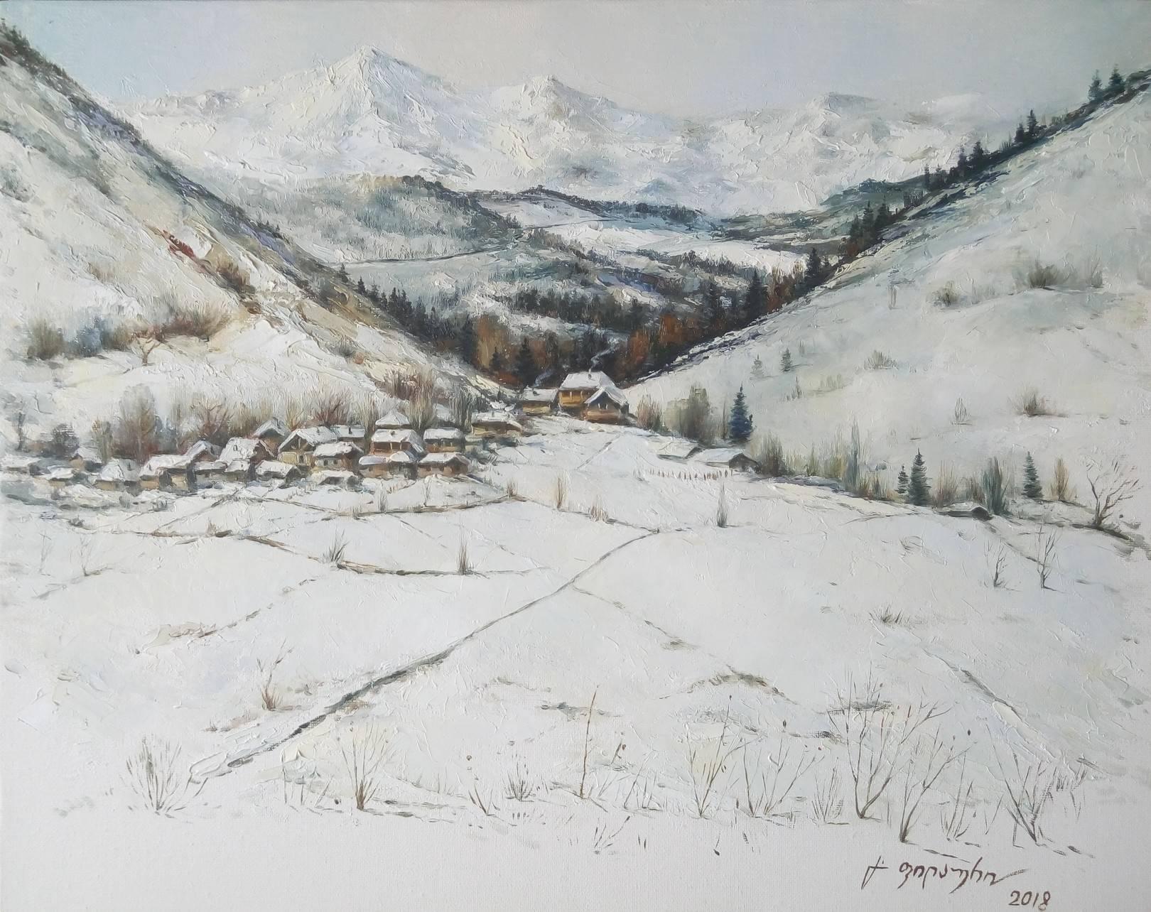 «Лиахвское ущелье»    холст, масло «Liakhvian canyon»       oil on canvas 40x50, 2018