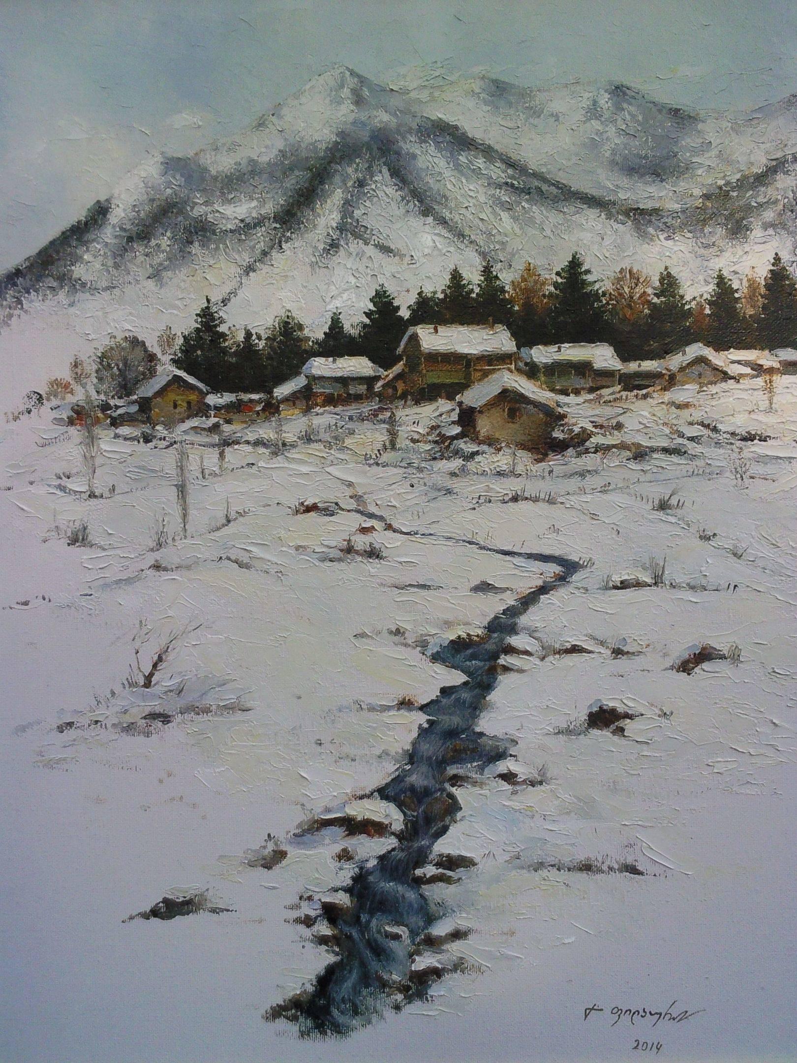 «Бакуриани»    холст, масло «Bakuriani»       oil on canvas 40x30, 2014
