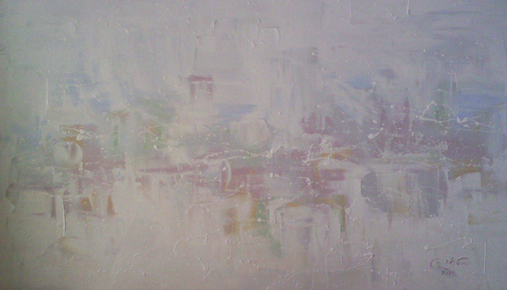 «Зимний город»      холст, масло «City in winter»        oil on canvas                                                     45x80,  2014