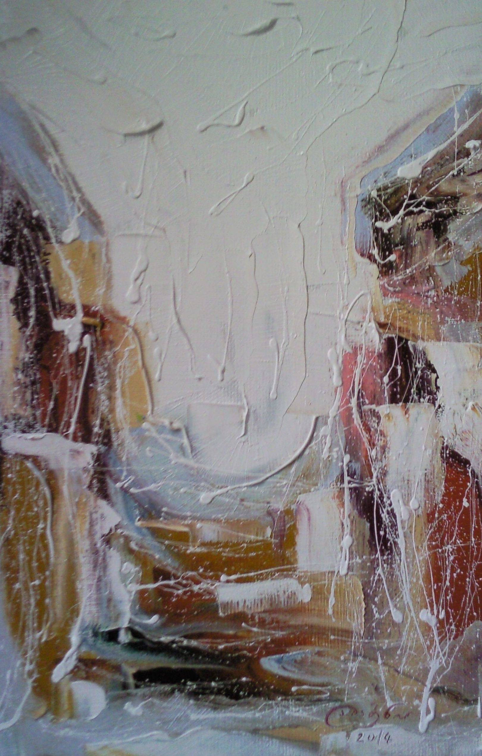 «Улицы Тбилиси зимой»       холст, масло «Tbilisi streets in winter»         oil on canvas                                                          52x32,  2014