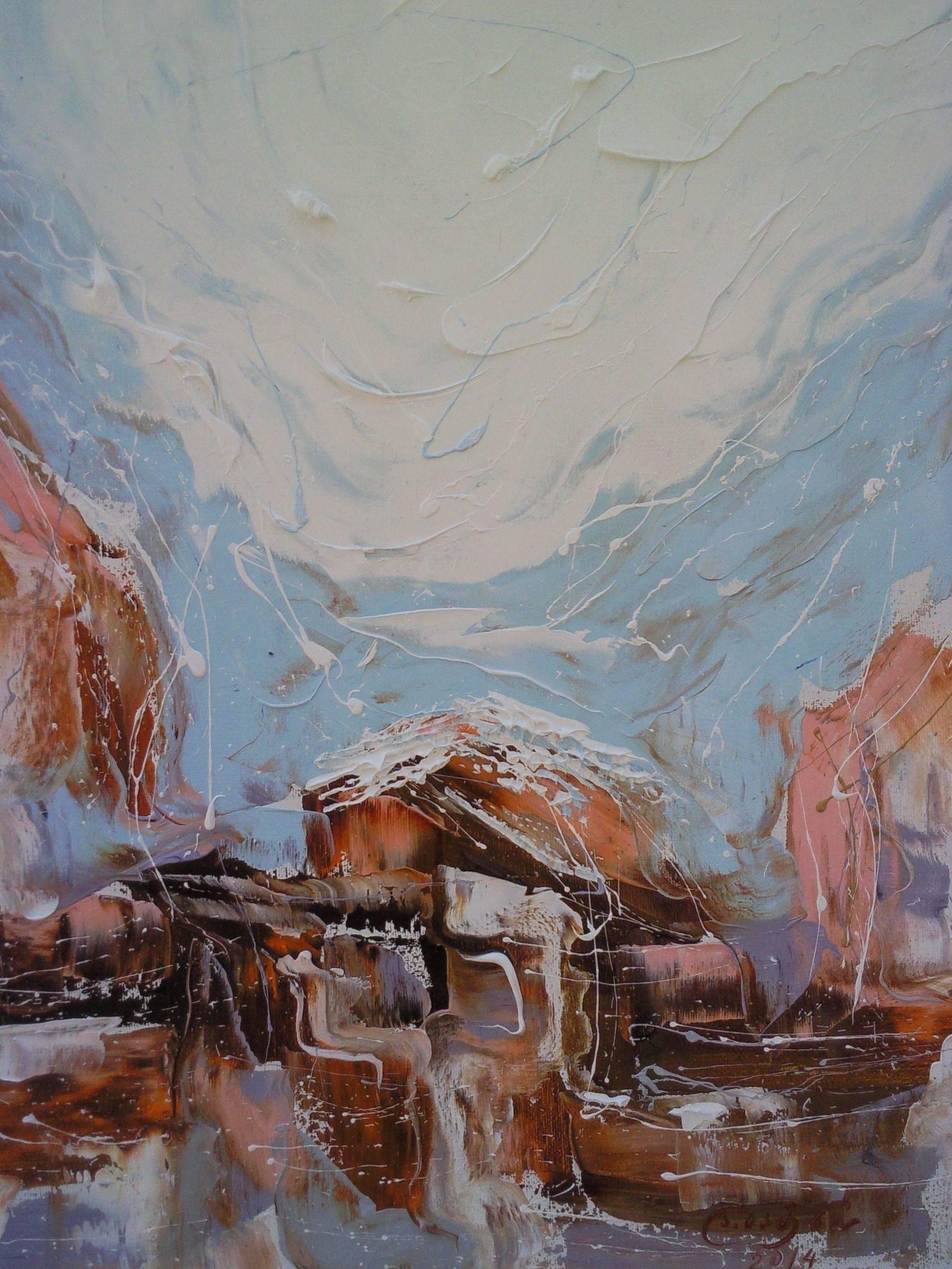 «Улицы Тбилиси зимой»      холст, масло «Tbilisi streets in winter»        oil on canvas                                                   50x40,  2014