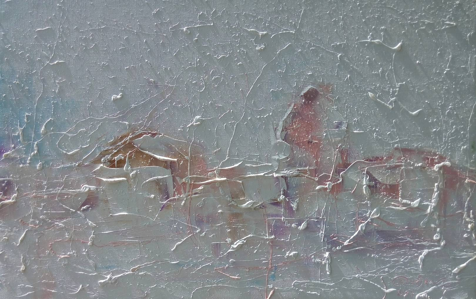 «Улицы Тбилиси зимой»               холст, масло «Tbilisi streets in winter»                 oil on canvas                                                          26x39,  2017