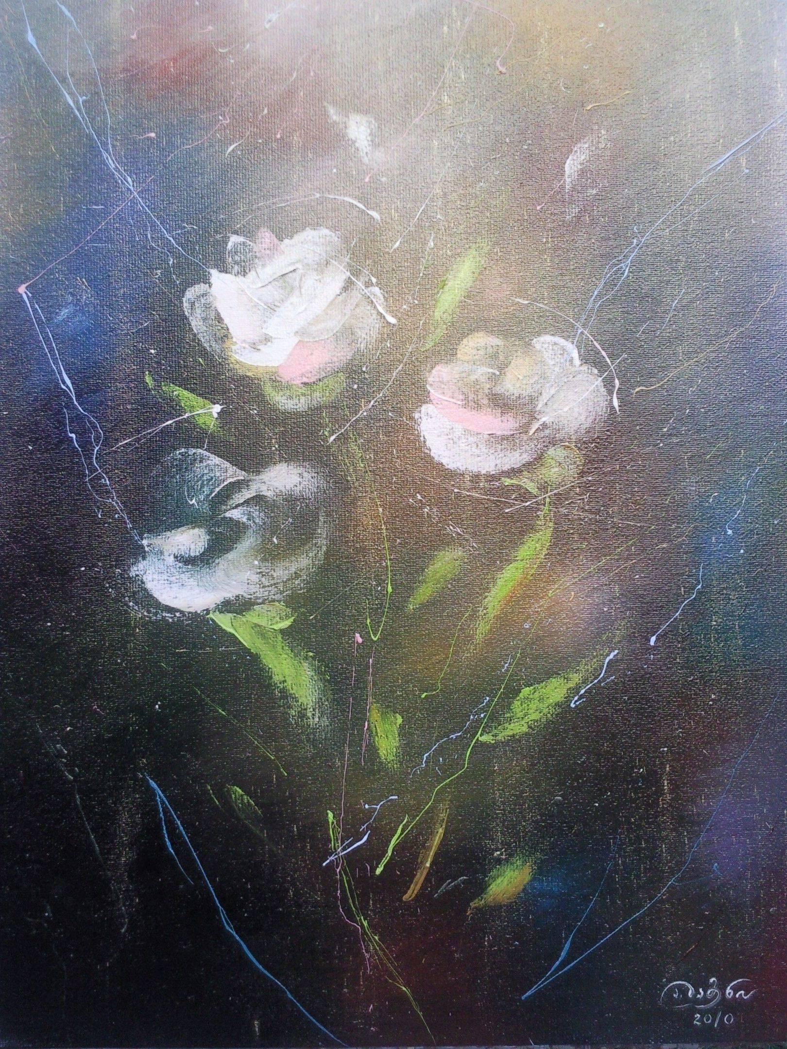 «Белые розы»                 холст, масло «White roses»                  oil on canvas                                                  80x60,  2012