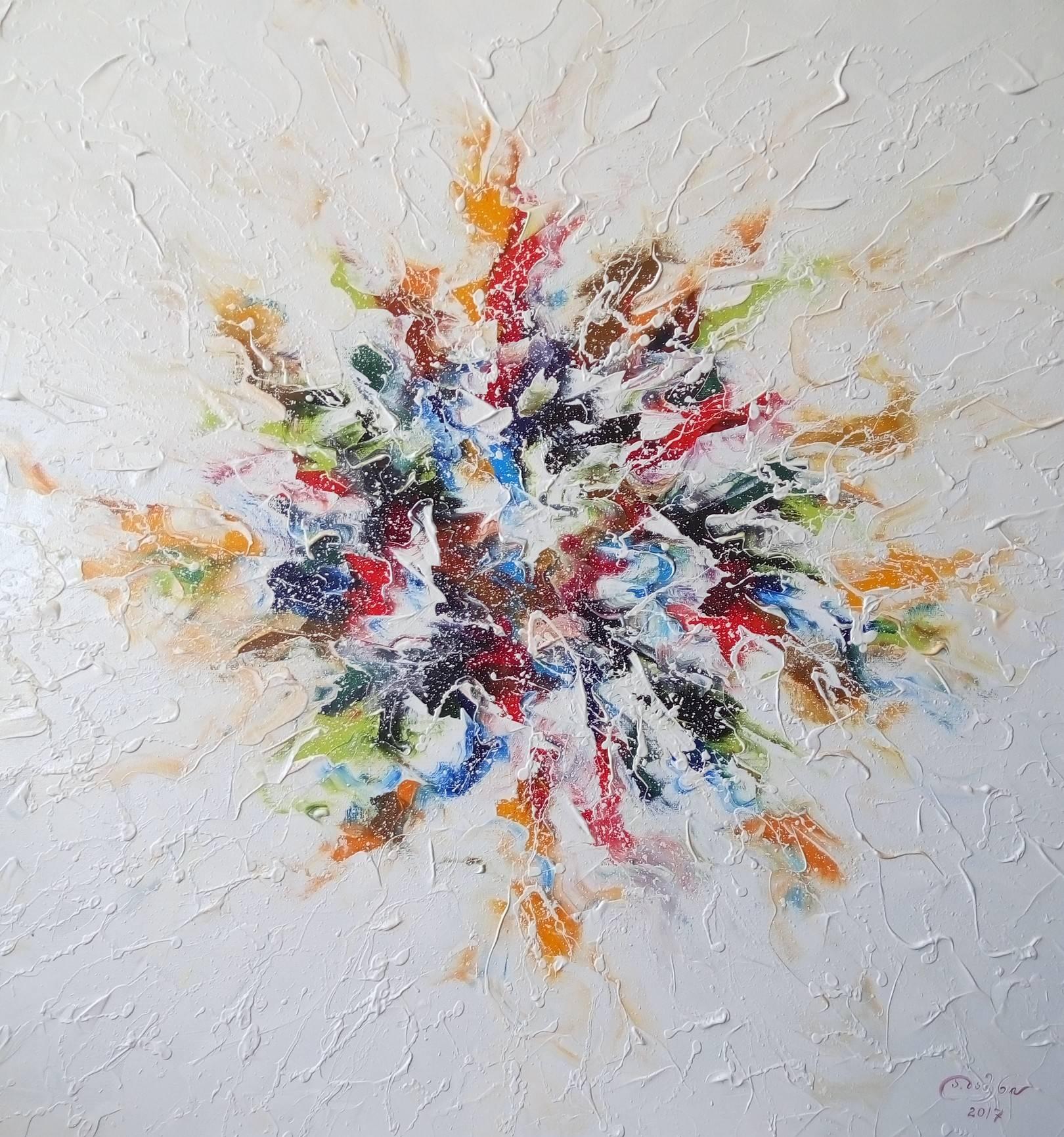 «Букет полевых цветов»           холст, масло «Bouquet of wild flowers»           oil on canvas  80x80, 2017
