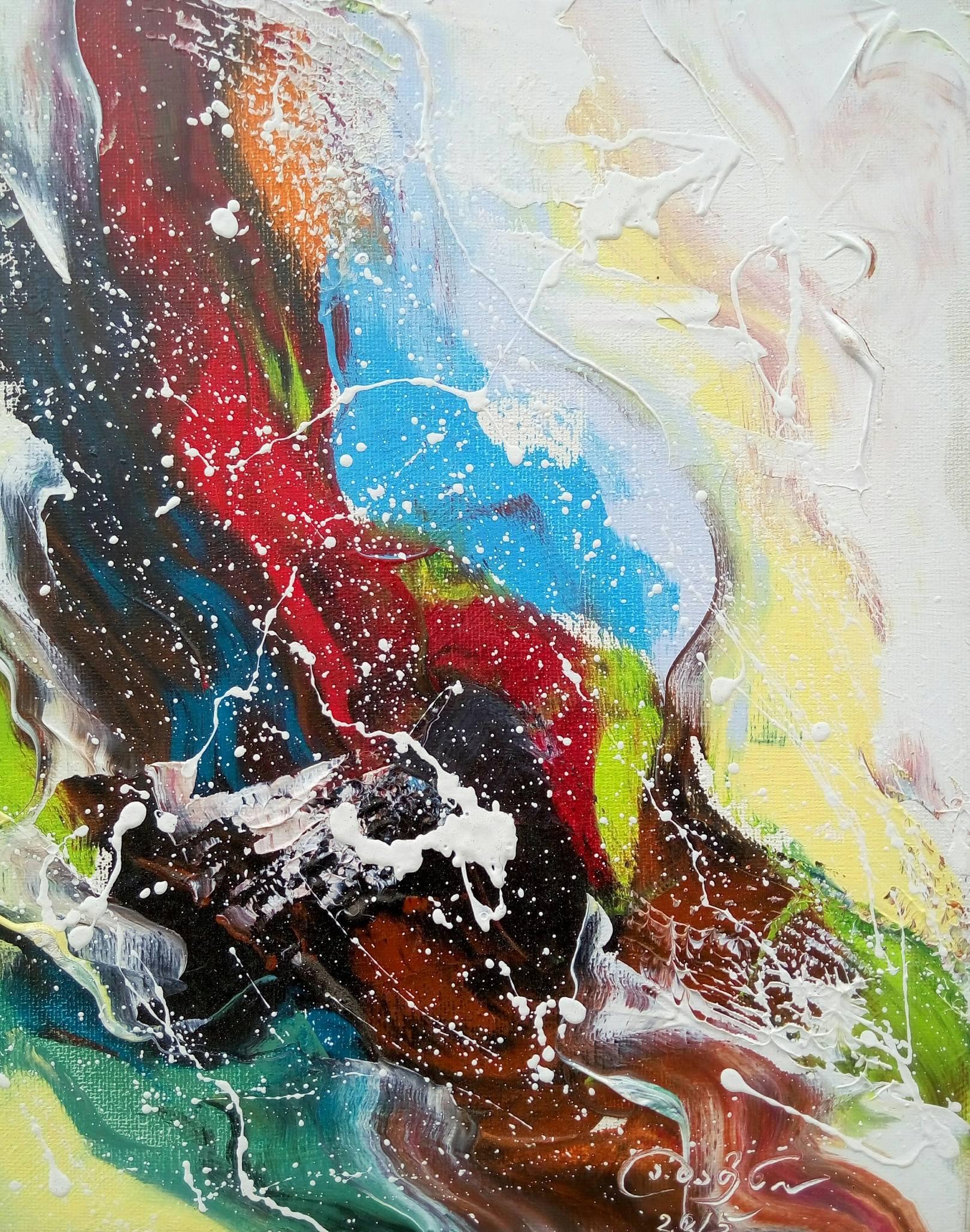 «Девушка у ручья»           холст, масло «The girl near a stream»    oil on canvas                                                 30x24,   2014