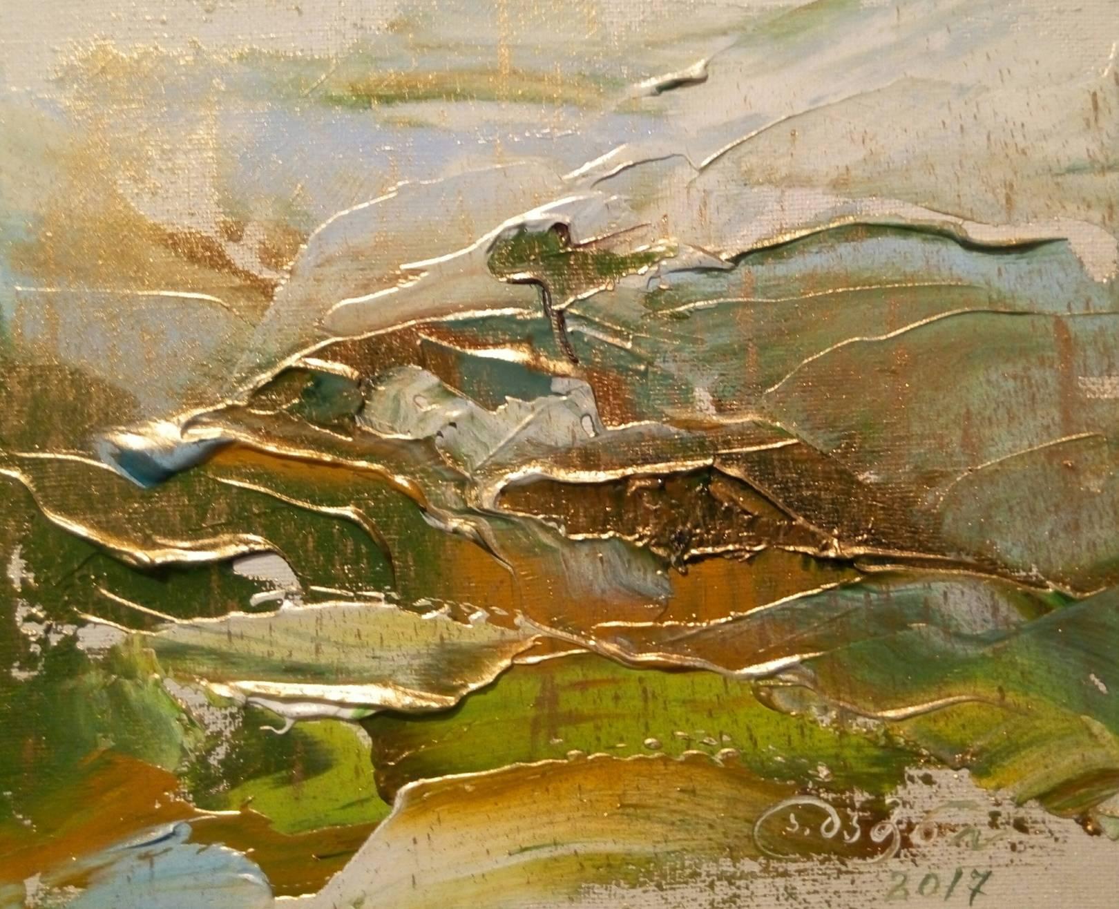 «Сакдриси»        холст, масло «Sakdrisi»            oil on canvas                                                 19x23,  2017