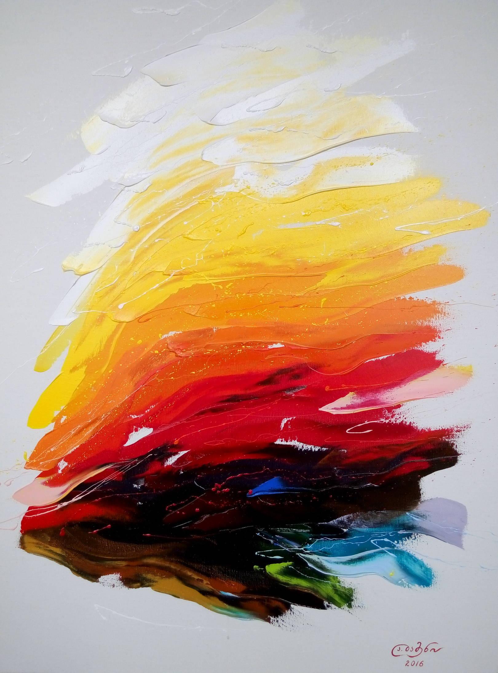 «Жаркий летний день на море»   холст, масло «Hot summer day at sea»               oil on canvas                                                    80x60,  2016