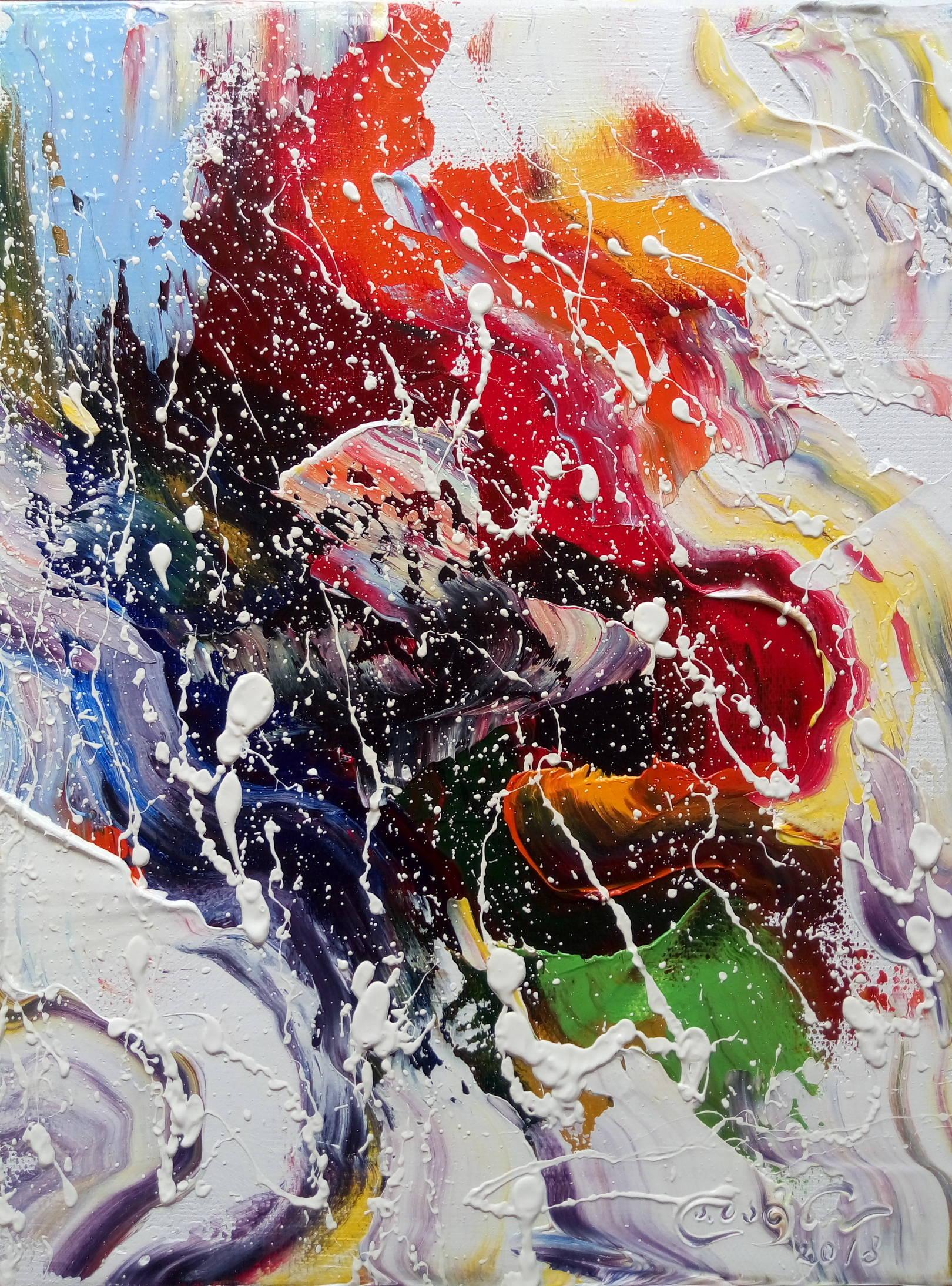«В подводном царстве»            холст, масло «წყალქვეშა სამეფოში»           oil on canvas                                                      30x24,  2018