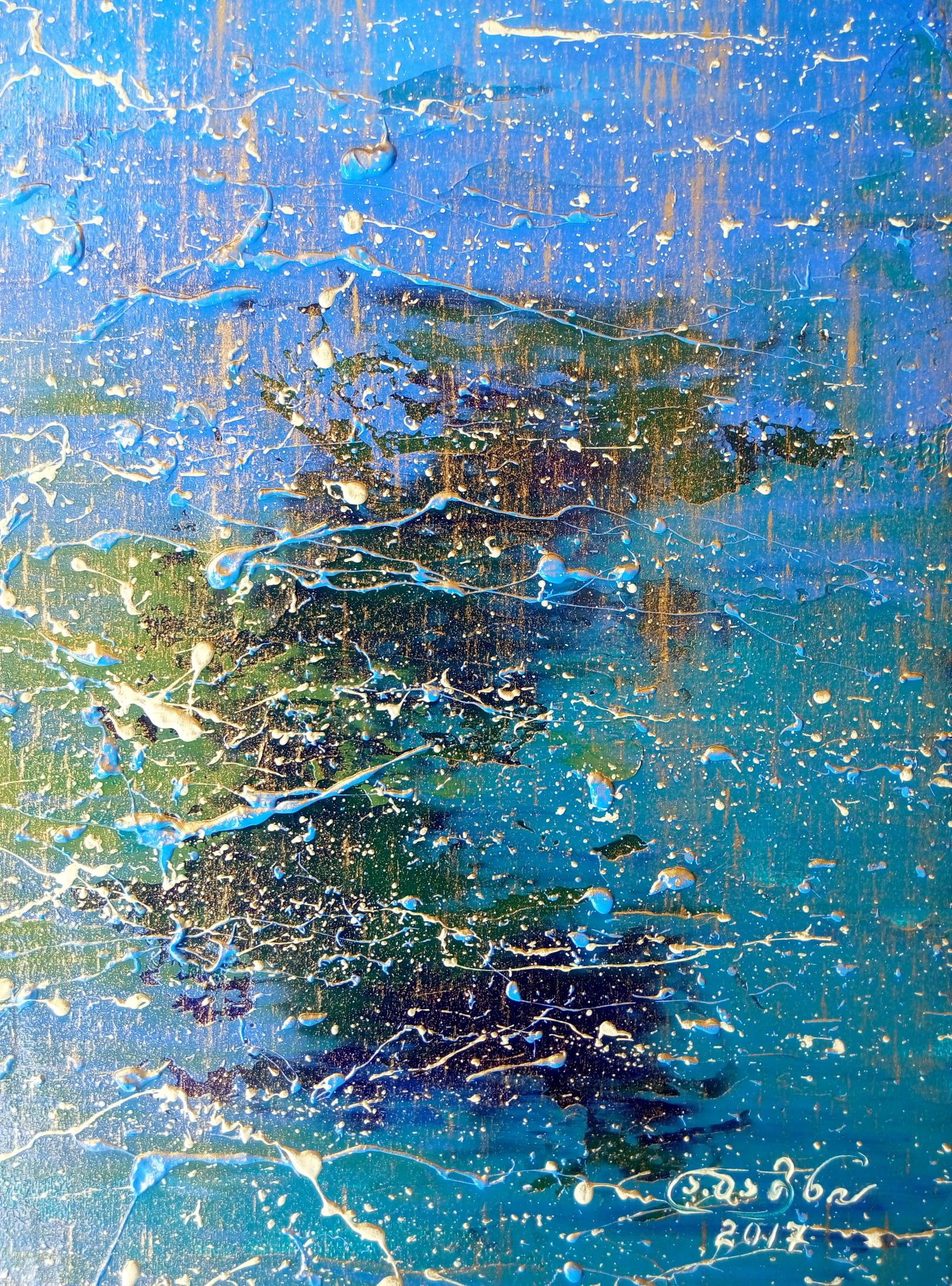 «Озеро в лучах заходящего солнца»   холст, масло «The lake in rays of the setting sun»      oil on canvas  30x24, 2017