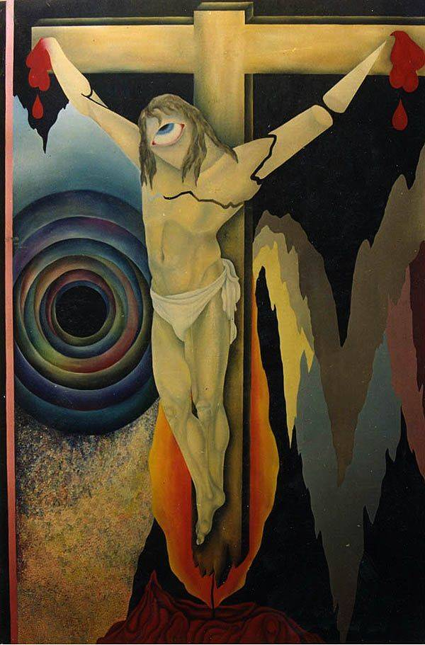 «Распятие»        холст, масло «Crucifix»            oil on canvas                                                 250x145,  1992
