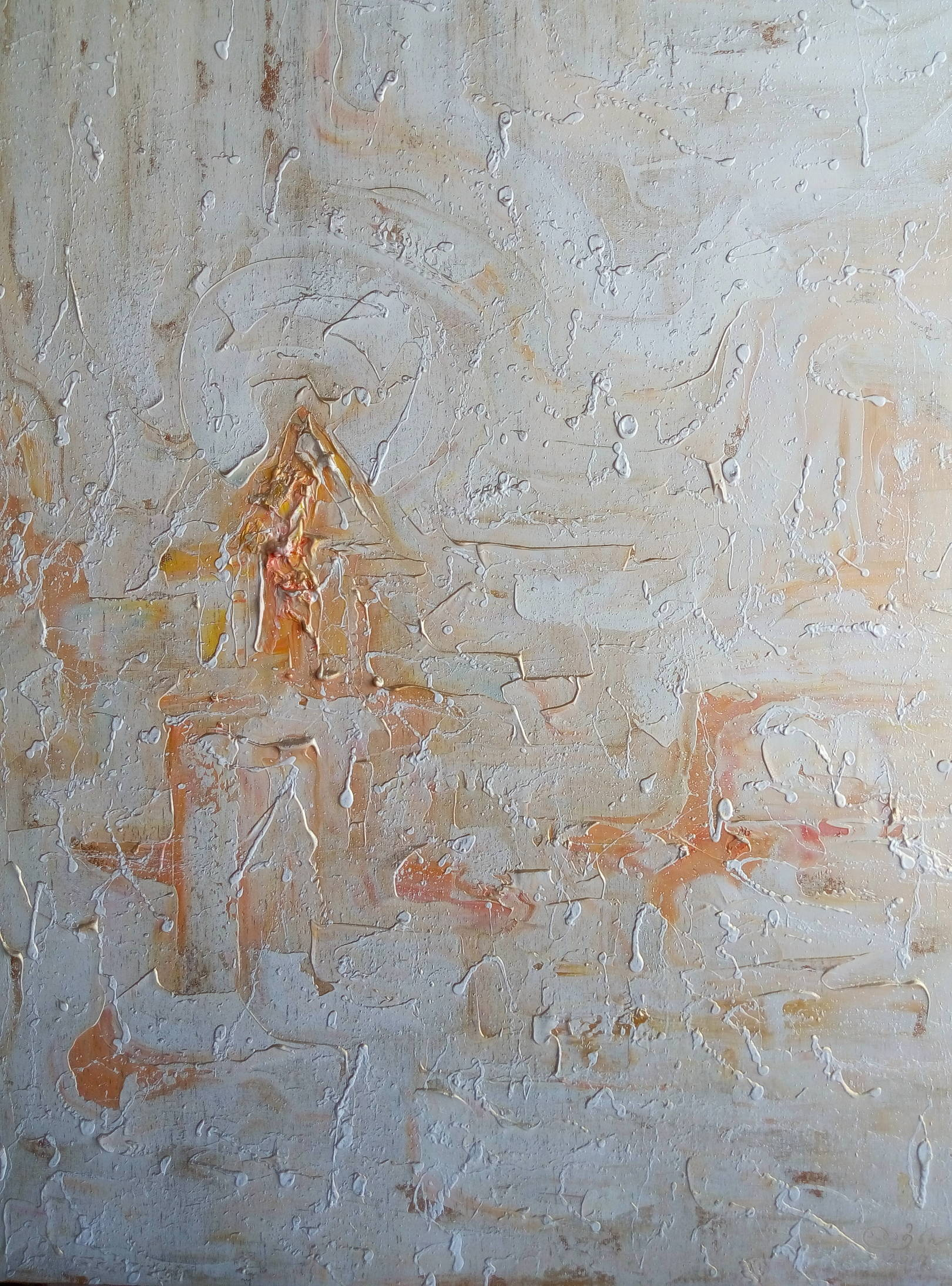 «Розовый город в золотых лучах»  холст, масло