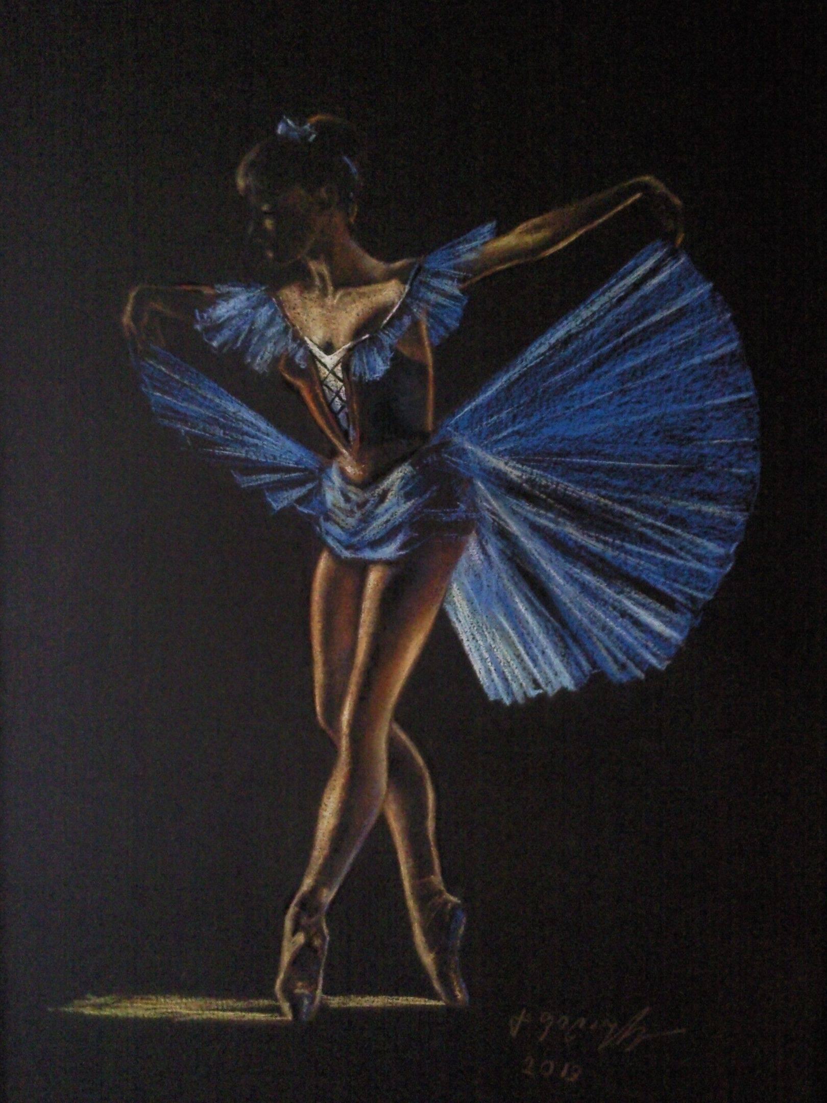 «Балерина»       бумага, пастель «Ballerina»         paper, pastel           47x38, 2013