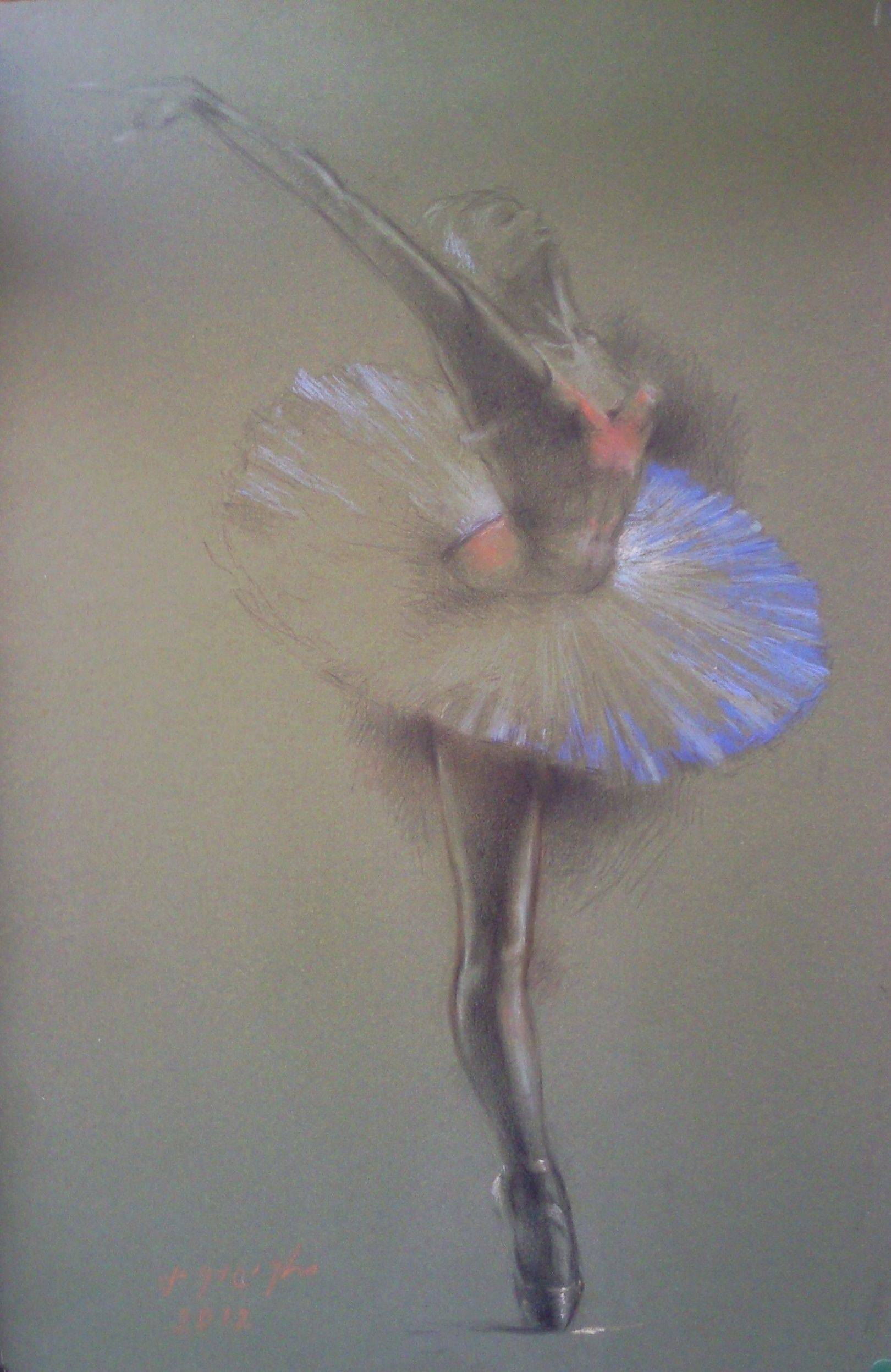 «Балерина»      бумага, пастель «Ballerina»         paper, pastel 45x30, 2012