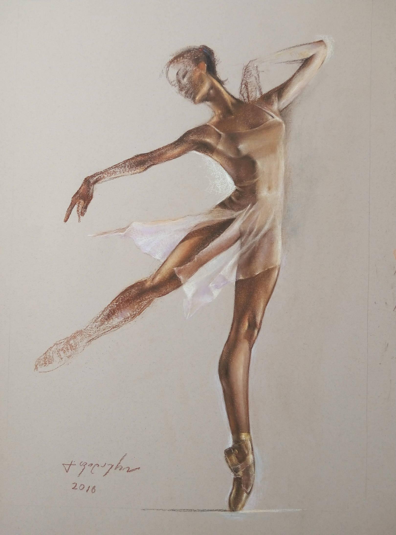 «Балерина»        бумага, пастель «Ballerina»           paper, pastel  62x40, 2016