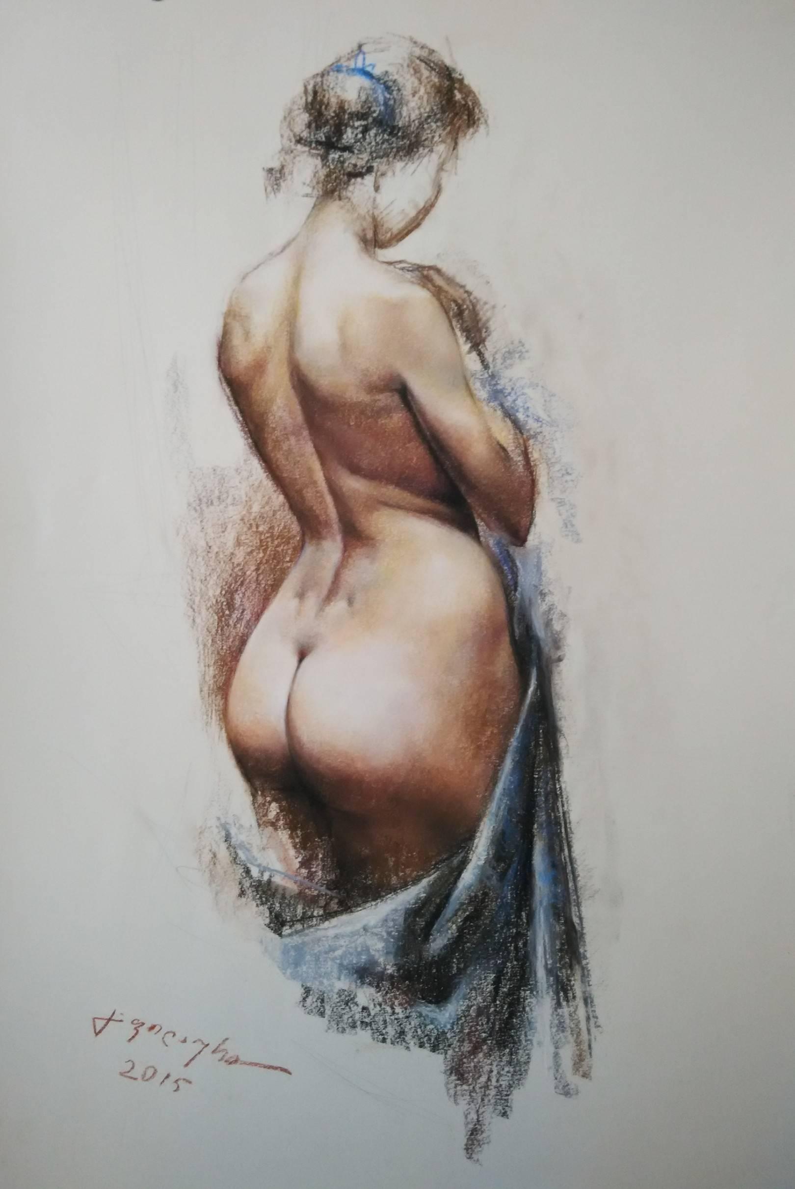 «Ню»            бумага, пастель «Nude»         paper, pastel           68x46, 2015