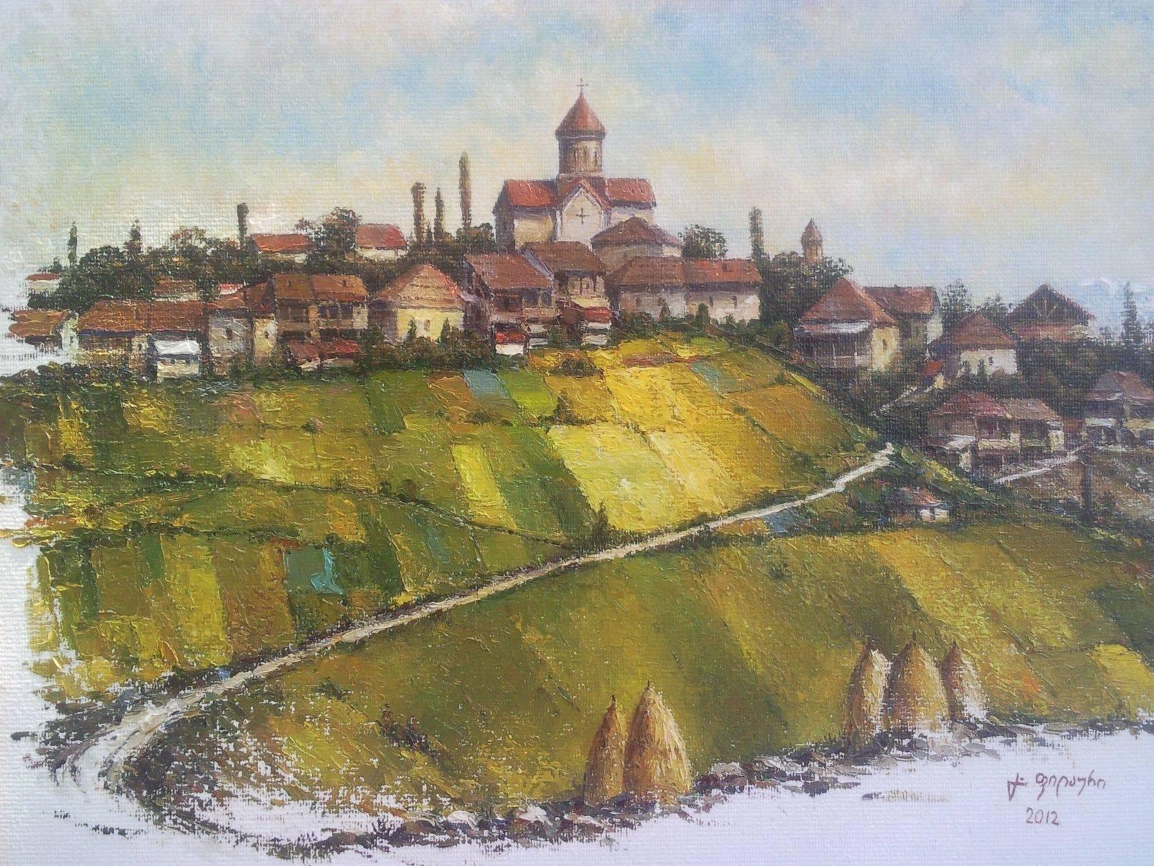 «Эртацминда»      холст, масло «Erthatsminda»     oil on canvas 50x60, 2012