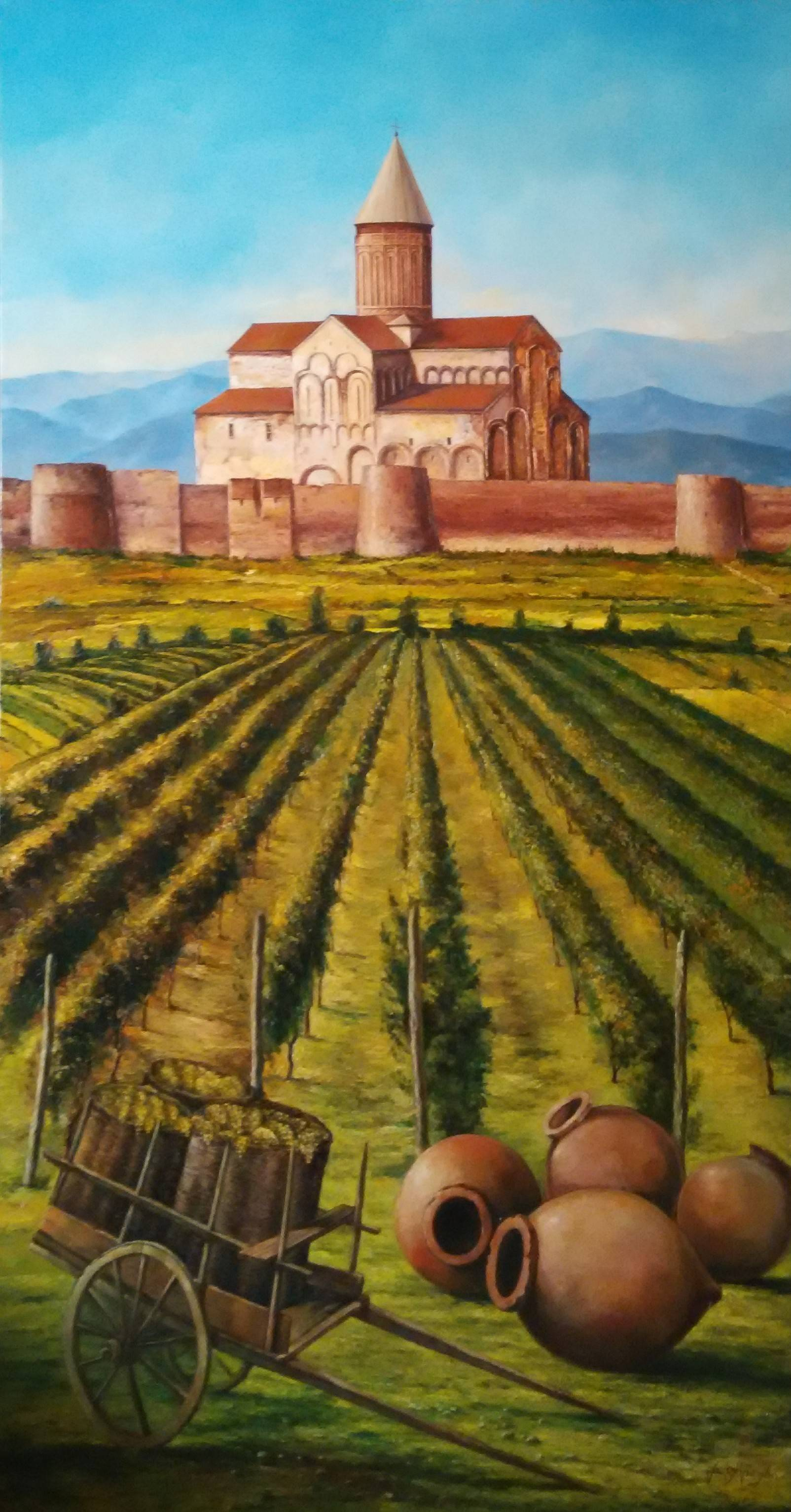 «Алаверди»            холст, масло «Alaverdi»               oil on canvas 180x95, 2015