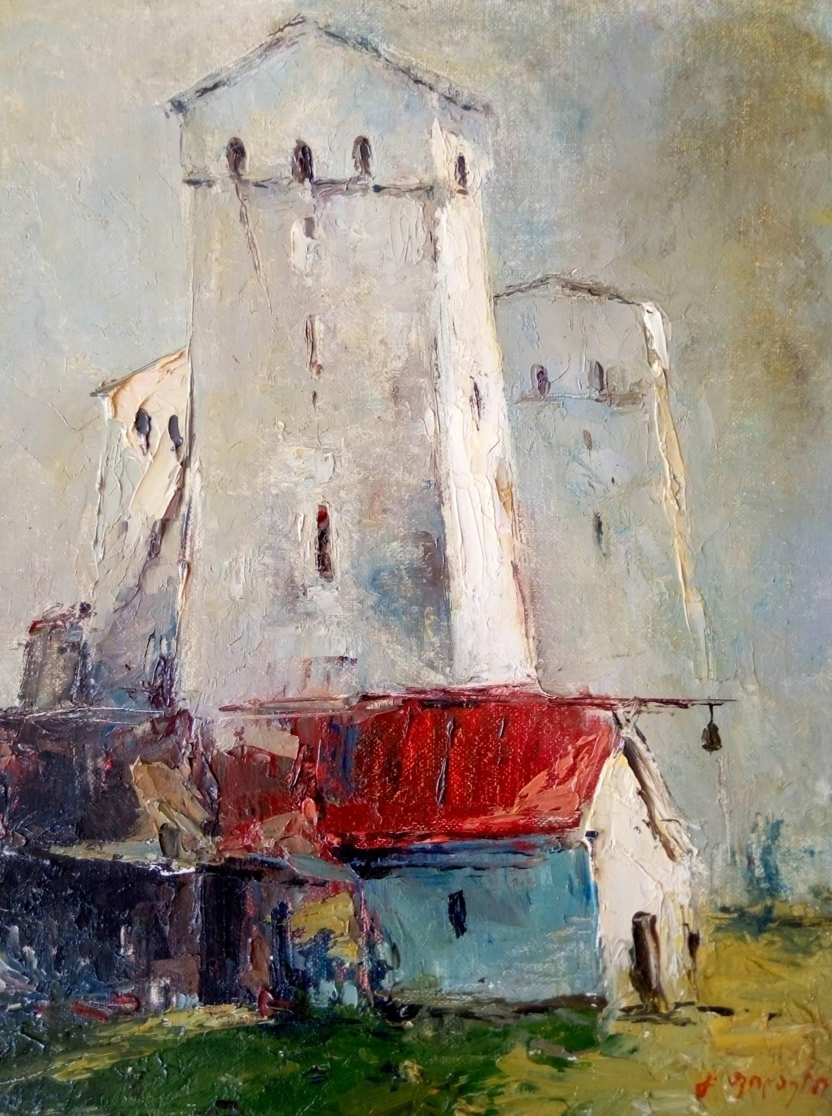 «Башня в Сванети»    холст, масло «Tower in Svaneti»      oil on canvas 30x24, 2010