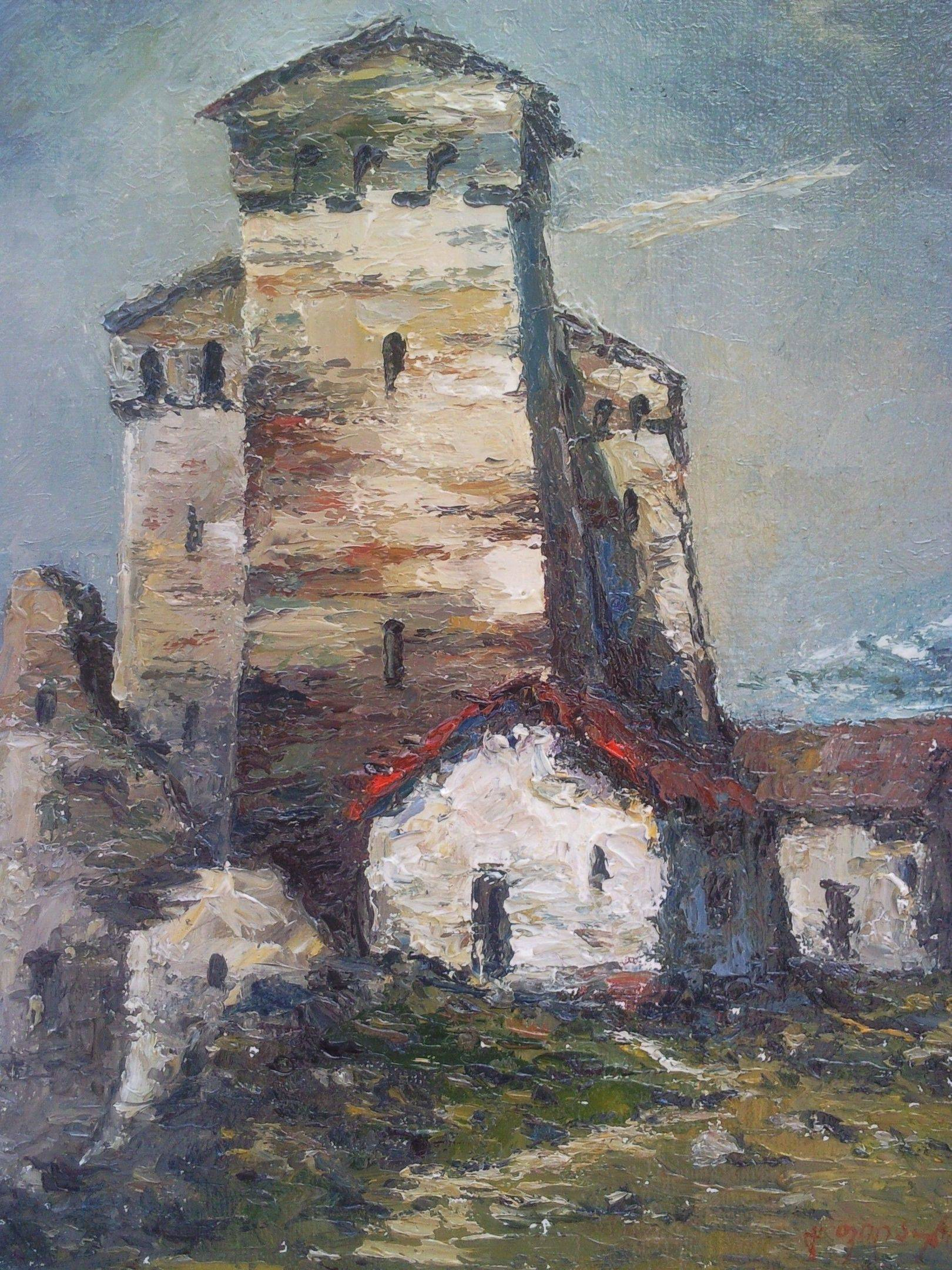 «Башни в Сванети»      холст, масло «Towers in Svaneti»       oil on canvas 40x30, 2011