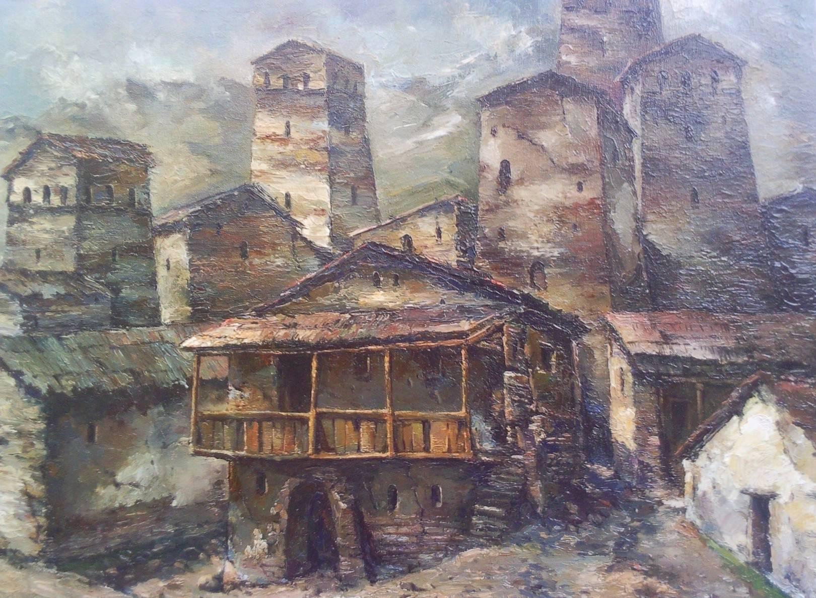 «Сванети»      холст, масло «Svaneti»        oil on canvas 50x60, 2012