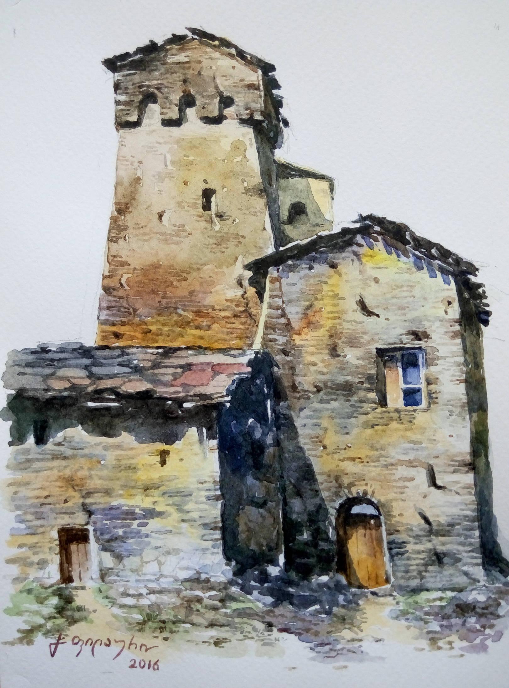 «Сванети»         бумага, акварель «Svaneti»           paper, aquarelle  20x15, 2016