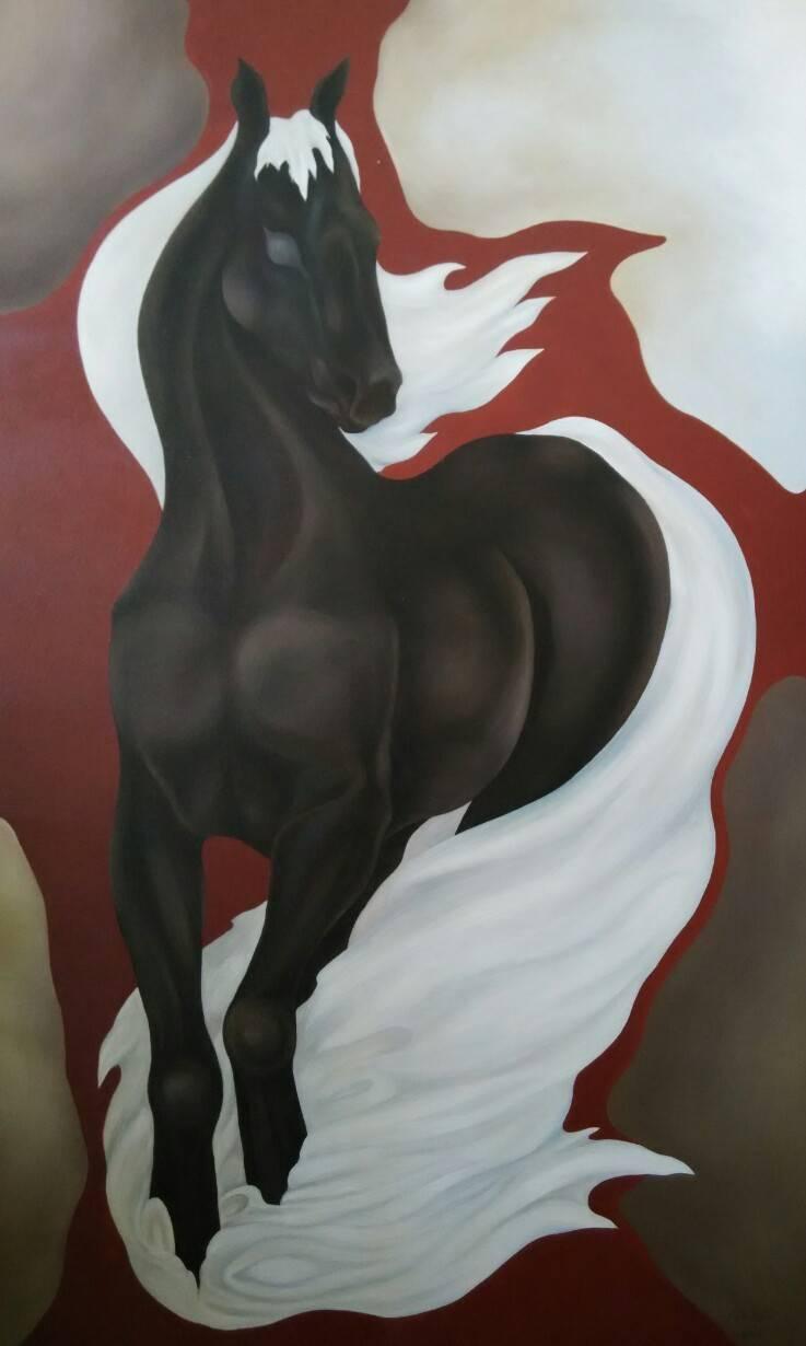 «Конь»             холст, масло «Horse»           oil on canvas                                                   105x64,  2004