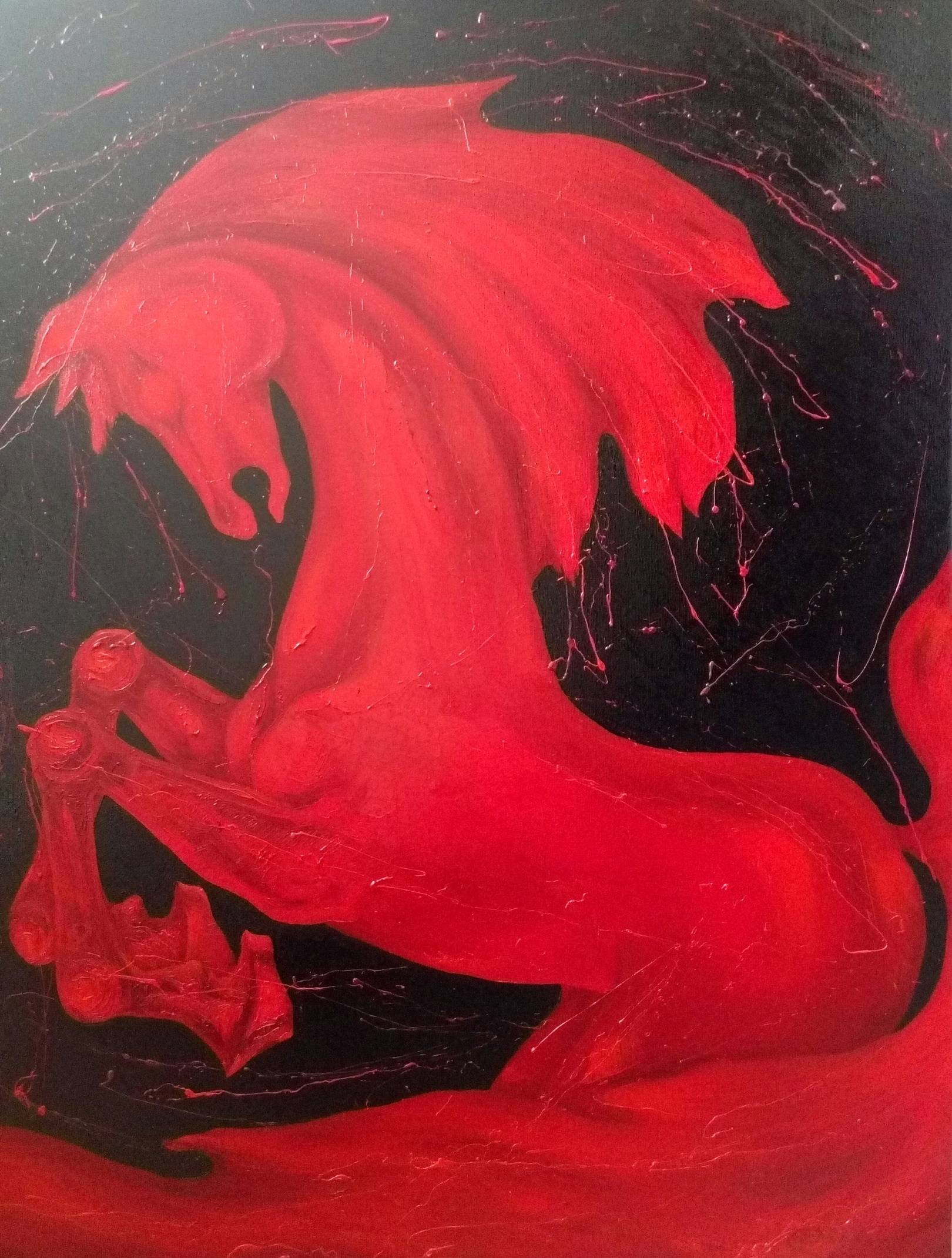 «Красный конь»        холст, масло «Red Horse»              oil on canvas                                                    80x60,  2014