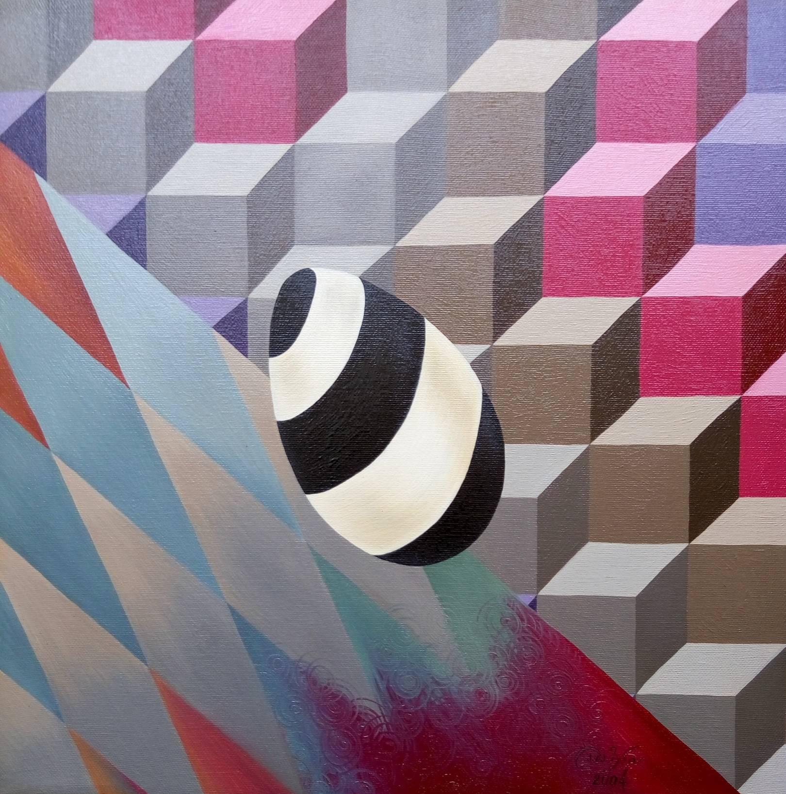 «Спиральное яйцо»                  холст, масло «Spiral egg»                               oil on canvas                                                 40x40,  2004