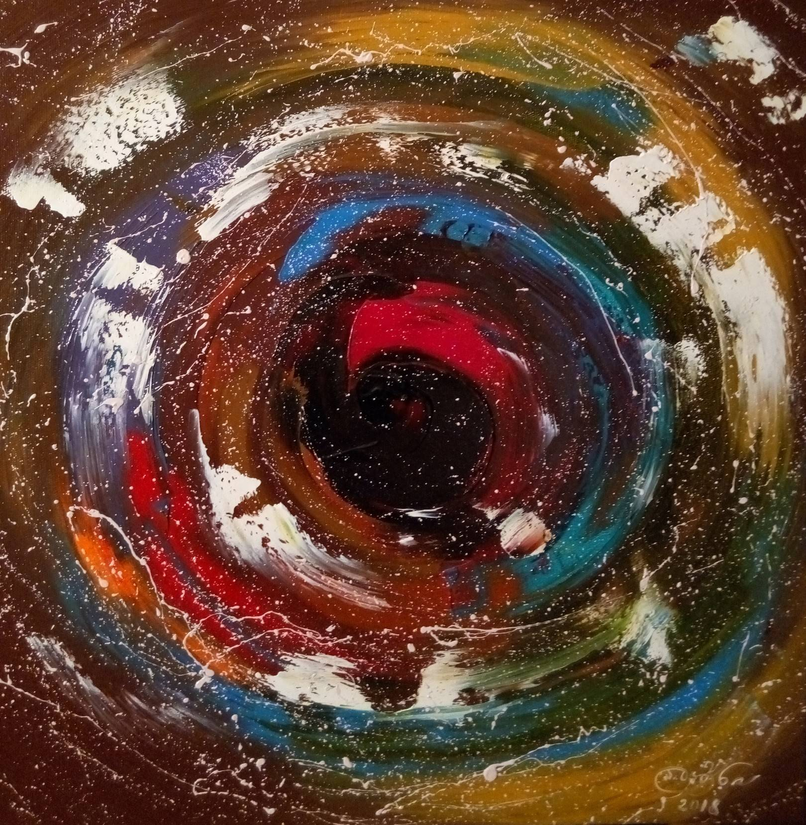 «Взгляд в подсознание»        холст, масло «Look in subconsciousness»   oil on canvas  50x50,  2018
