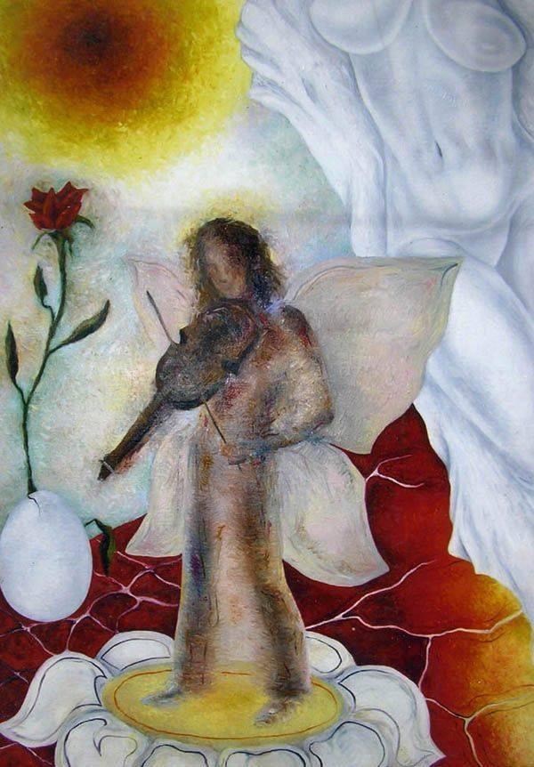 «Эльф»           холст, масло «Elf»                oil on canvas                                                   120x90, 1995