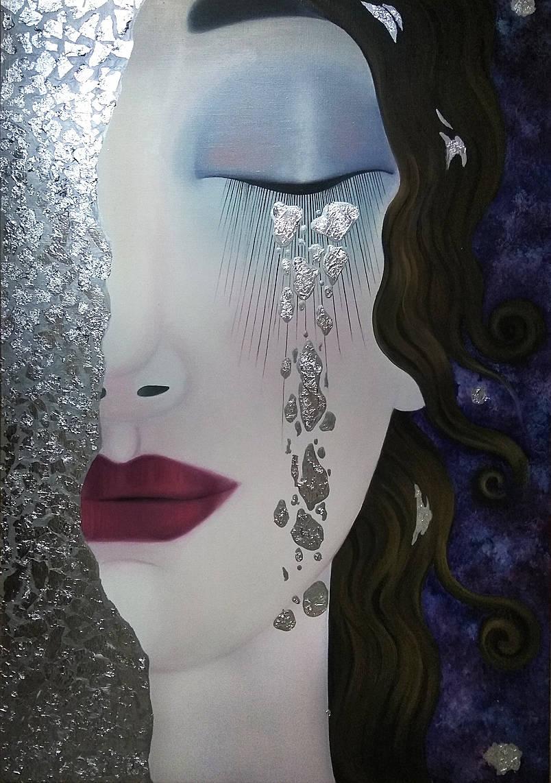 Картина масло Серебряные слезы