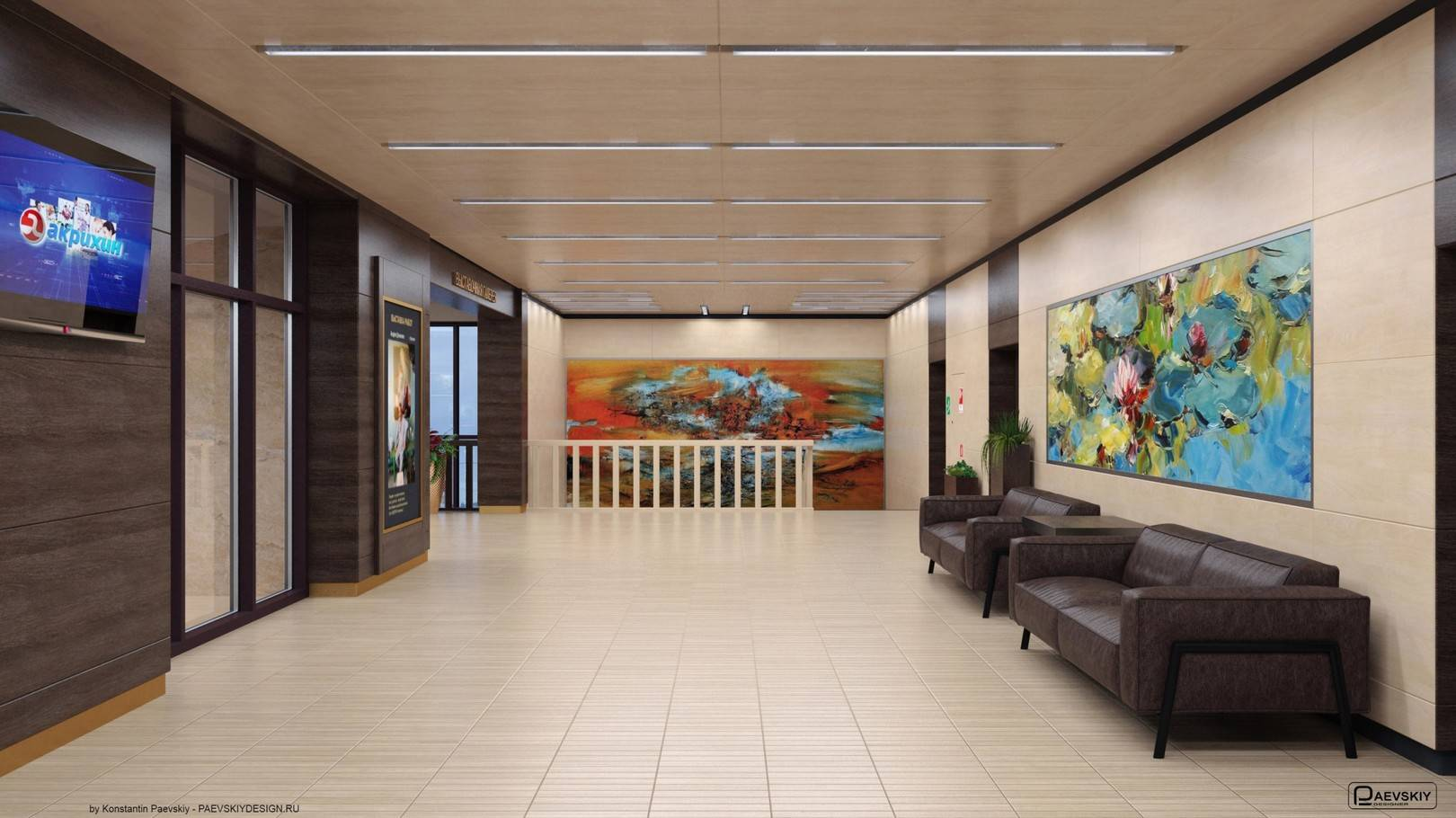 Фойе выставочной галереи 2 этаж