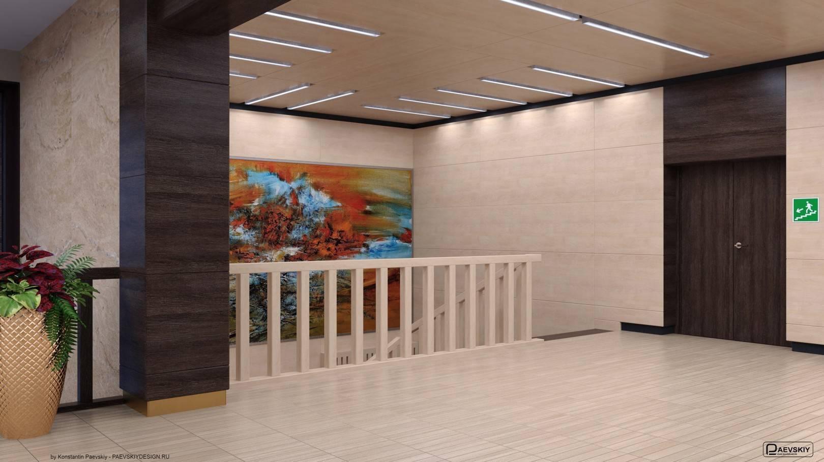 Лестница в выставочную галерею 1-2 этажи