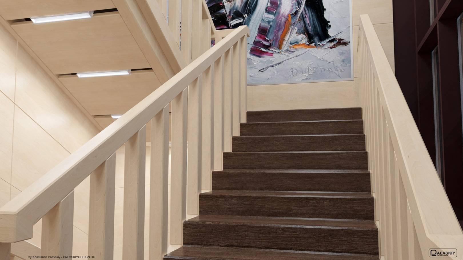 Лестница 1-2 этажи в кабинеты