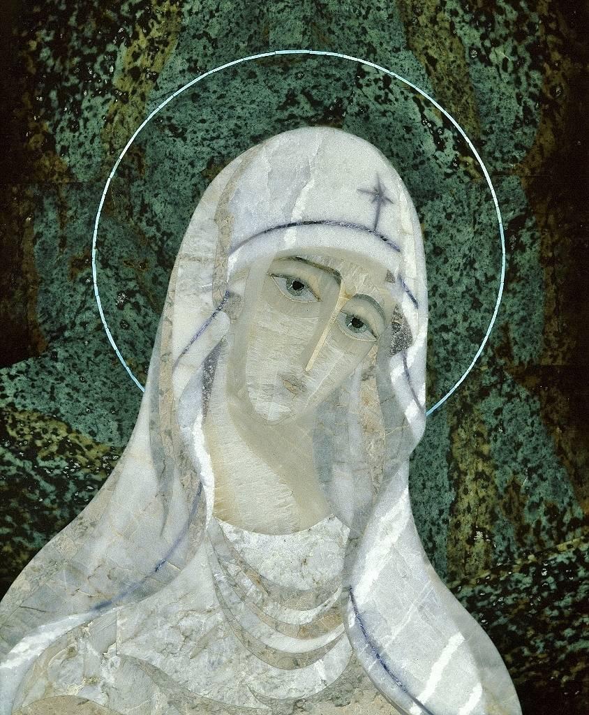 """""""Богоматерь"""" мозаика в Ватикане 1995(?) мозаика находилась в личных покоях Иоанна Павла второго Папы Римского, где она сейчас не знаю."""