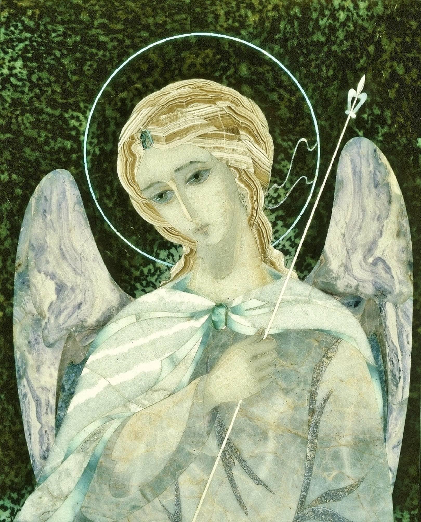 """""""Ангел"""" мозаика из собрания музеев Московского Кремля  1996 - 1998"""