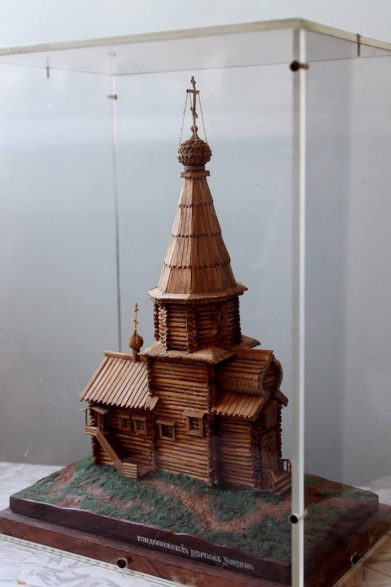 Кондопожская церковь Успения. Спички.