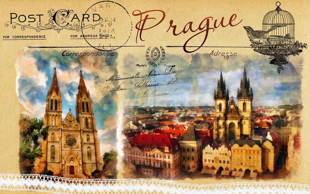 Прага. Иллюстрации.