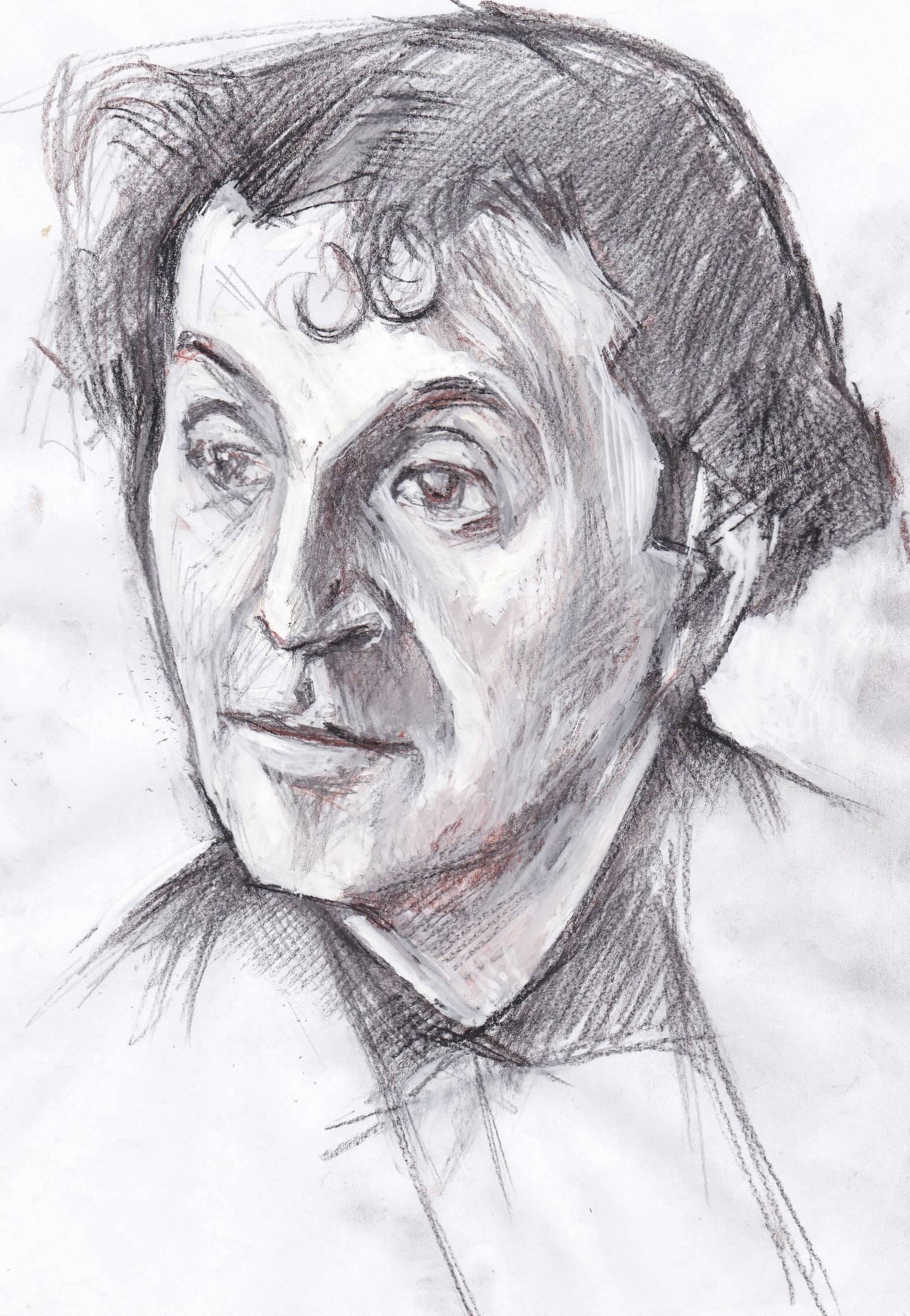 Набросок к портрету Марка Шагала.