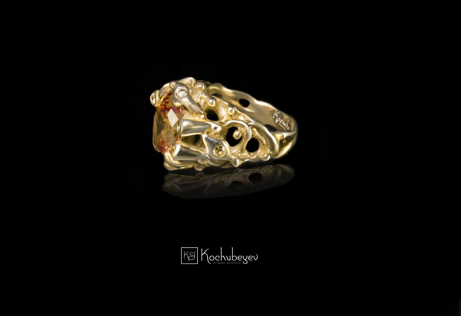 Кольцо JJ Королевское с цитрином.