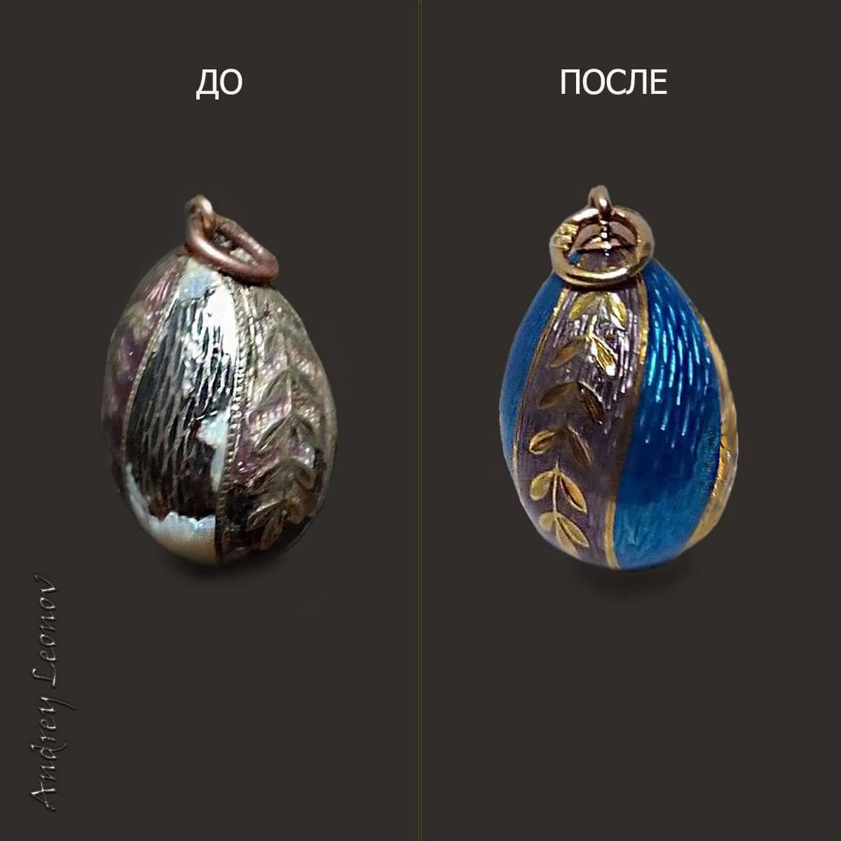реставрация,подвеска,горячая эмаль,серебро925,позолота.