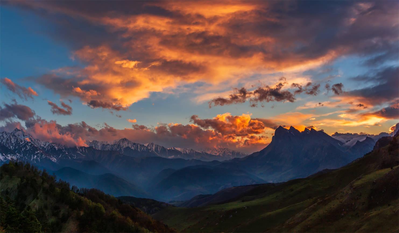 Вечер в горах