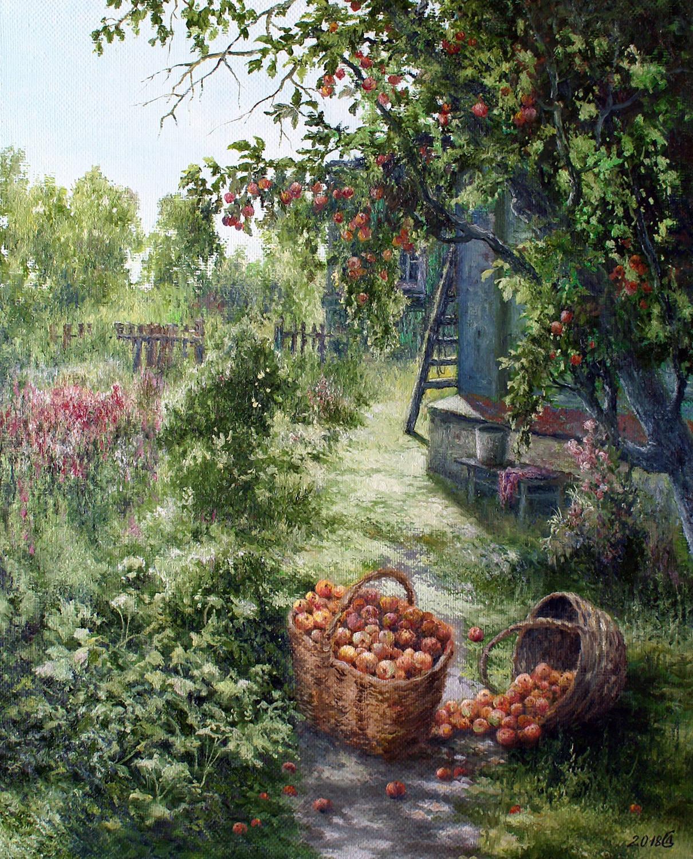 Яблочный Спас - холст/масло, 50х40, 2018