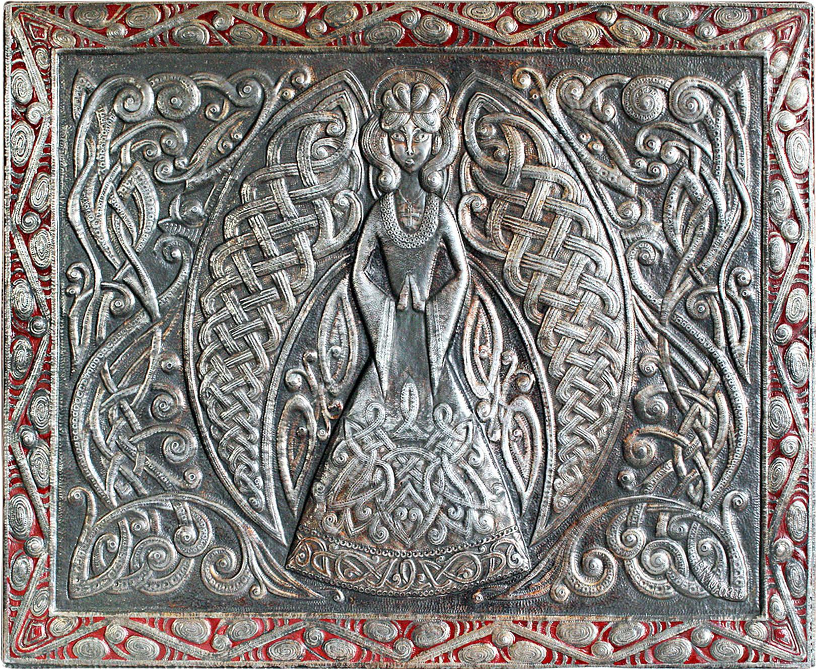 Богиня Алюминий; чернение, масло 43х54 см