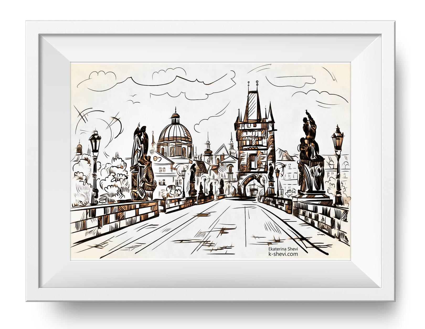 """Иллюстрации """"Города Европы"""""""