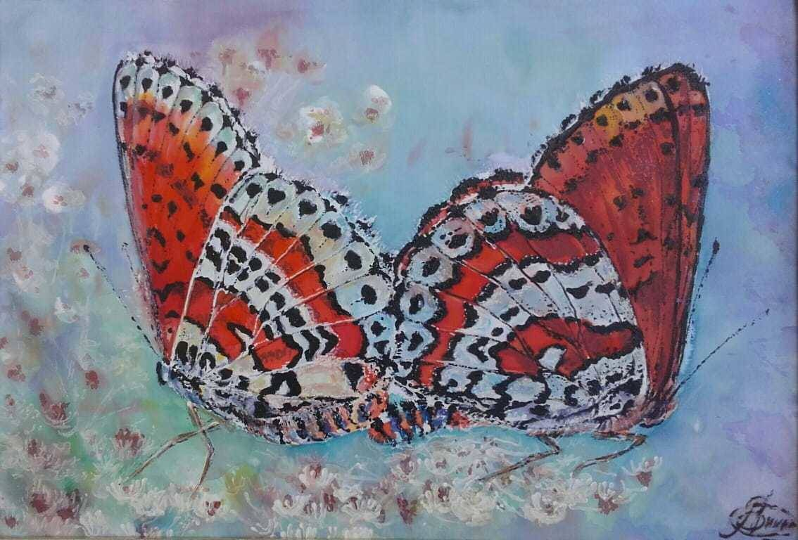 "Декоративное панно 24х30 ""Влюбленные бабочки"""