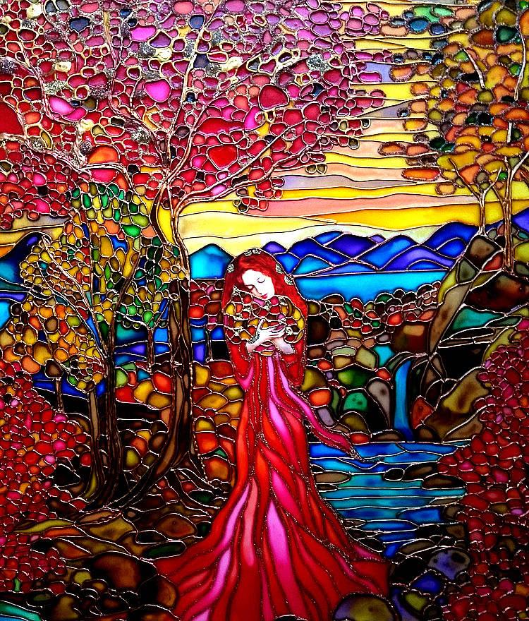 Витраж/витражная картина Осень
