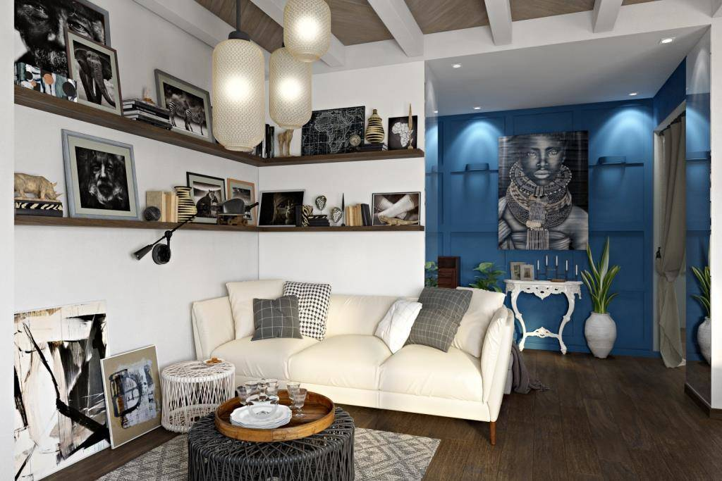 Хозяйка этой квартиры много путешествует и собирает различный декор, который, конечно, подходит к этому интерьеру. Ведь интерьер и декор тесно связаны с предпочтениями их обладателя
